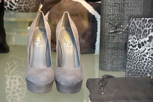 accessories, cute, fashion, gray, heels, high heels, love, shoes, ysl