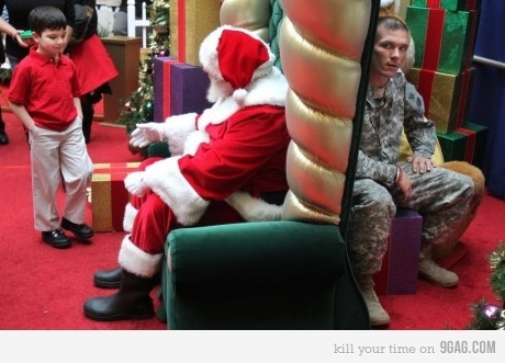 adorable, boy, christmas, christmas wish, cute, dad, family, father, holidays, homecoming, kid, military, reunion, reunited, santa, solider, son, wish