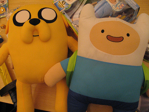 adventure time, cute, finn, jake, plush