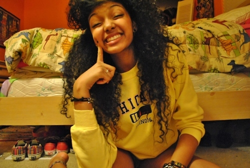 afro america, beautiful, big hair, curly, swag - image ...