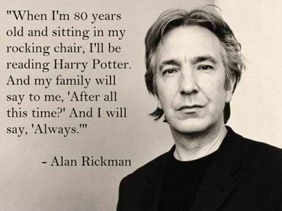 alan rickman, always, harry potter