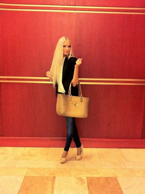 alena shishkova, beauty, blonde, fashion, long hair, model, outfit, style