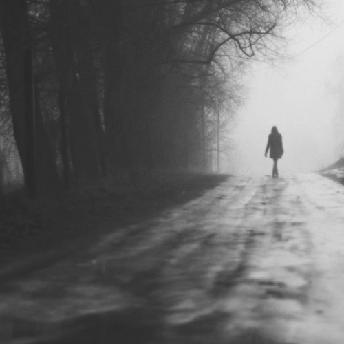 alone, black and white, girl, photography - image #319313 ...