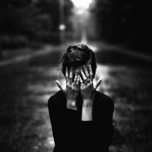 alone, black and white, girl, photography