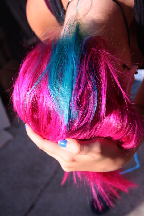 alternative, alternative girl, bau, bau efy, bau twin, blue, blue hair, blue pink hair, colored hair, cool hair, cotton candy, diy hair, dyed hair, efybau, fashion, girl, grunge, hair color, kawaii, pink, pink hair, turquoise, turquoise hair