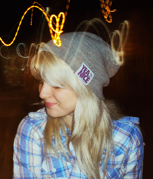 alternative, beanie, blonde, cute, girl