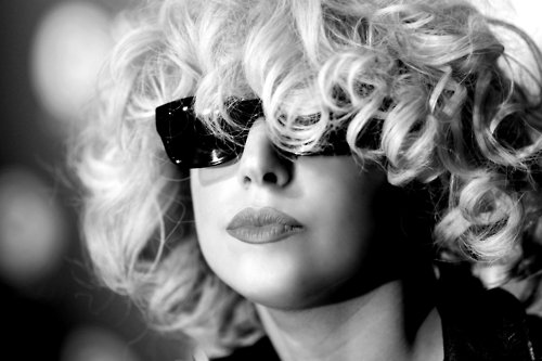 alternative, beautiful, beauty, black and white, fashion, gaga, lady gaga, lips, pretty