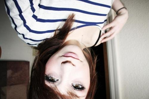 alternative, beautiful, brunette, cute, dye, dyed hair, eyes, girl, gorgeous, hair, hairstyle, makeup, stripes