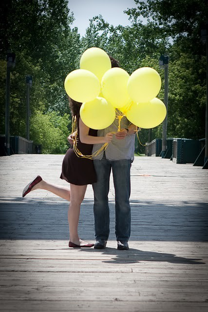 amarillo, amor, arboles, balloons, beautiful