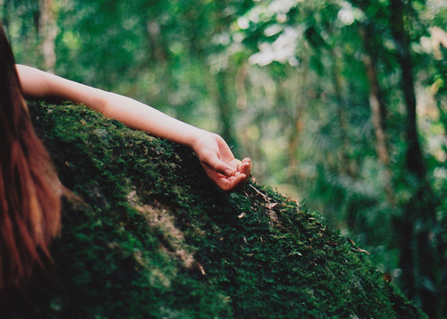 amazing, awesome, beautiful, bokeh, colour, death, forest, girl, hand, lie, long hair, moss, nails, nature, nice, no city, photo, photography, picture, sleep, tree, vintage