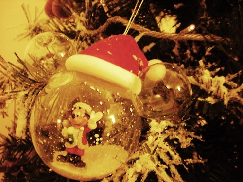 amazing, character, christmas, disney, lights, mickey mouse, nice, photography, snow, sweet, tree, xmas