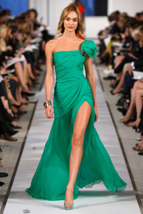 amazing, cute, dress, fashion, girl, green, love, model, runway