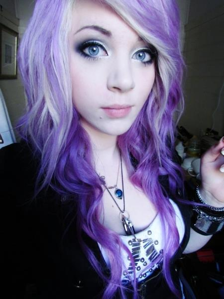 amber mccrakin, curly hair, cute, gorgeous, purple hair