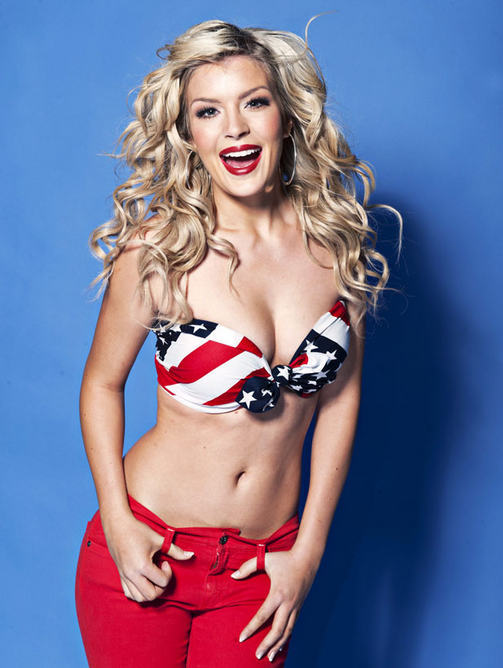 america, american flag, beautiful, bikini, blonde