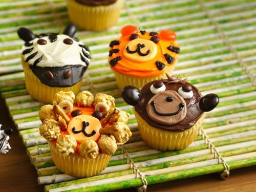 animal, cake, colourful, cupcakes, food