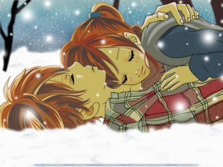 anime, anime couple, bokura ga ita, boy, cute, girl, love, manga, snow, winther