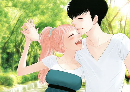 anime, anime couple, boy, couple, cute