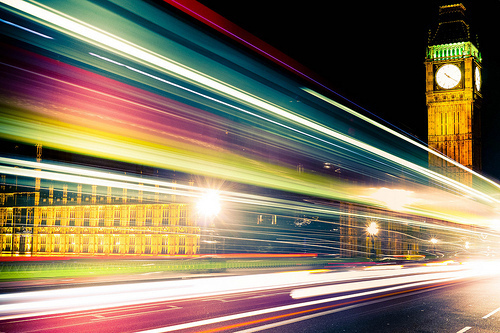 architecture, big ben, light, lights, london, night, photography, slow shutterspeed, vibrations
