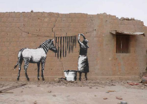 art, banksy, creative, graffiti, inspiration, showcase, stencil, street, works