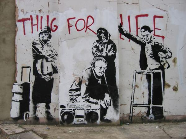 art, banksy, creative, graffiti, inspiration
