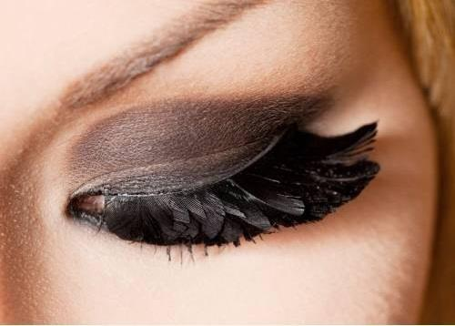 art, beautiful, black, brown, eye, feather, feature, girl, lash, lashes, makeup, pretty, shadow, shadow lashes