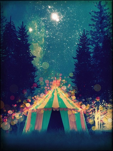 art, circus, night, sky
