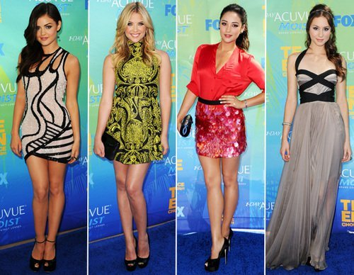 ashley benson, dress, fashion, girl, lucy hale, shay mitchell, troian bellisario