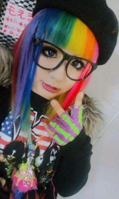 awesome, beautiful, blue, color, colorful, colors, crazy, cute, eyes, fashion, girl, green, hair, japan, japanese, orange, pink, pretty, rainbow, red, strange, violet, wtf, yellow