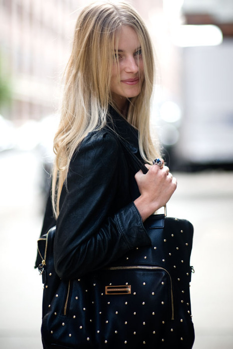 bag, beautiful, beauty, black, blonde