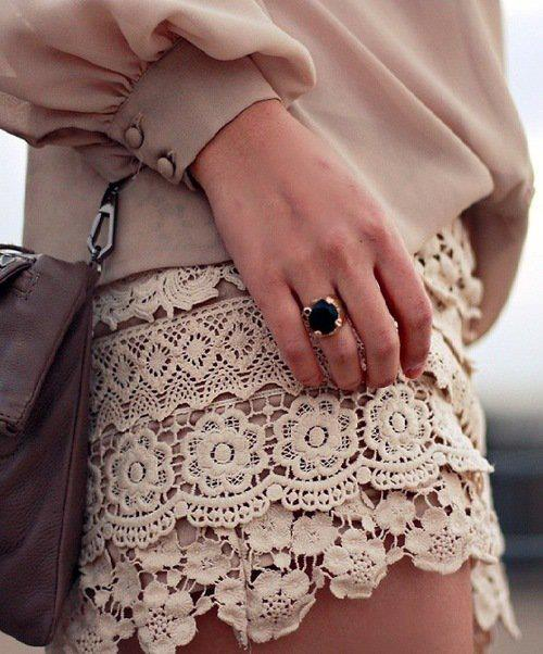 bag, bling, bow, fashion, gold, hand, lace, nails, pretty, ring, skirt, style
