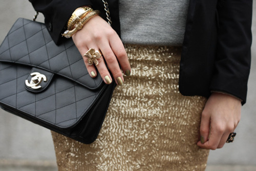 bag, bracelet, chanel, details, fashion, jewelry, ring, street fashion, street style, style