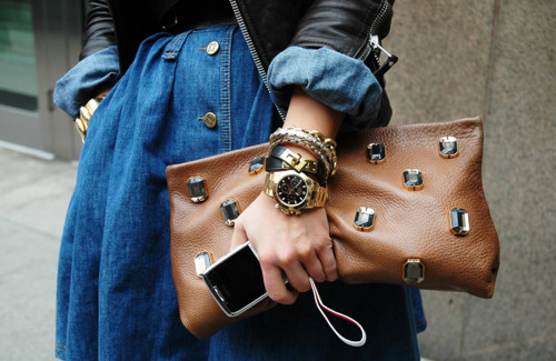 bag, fashion, phone, watch, woman