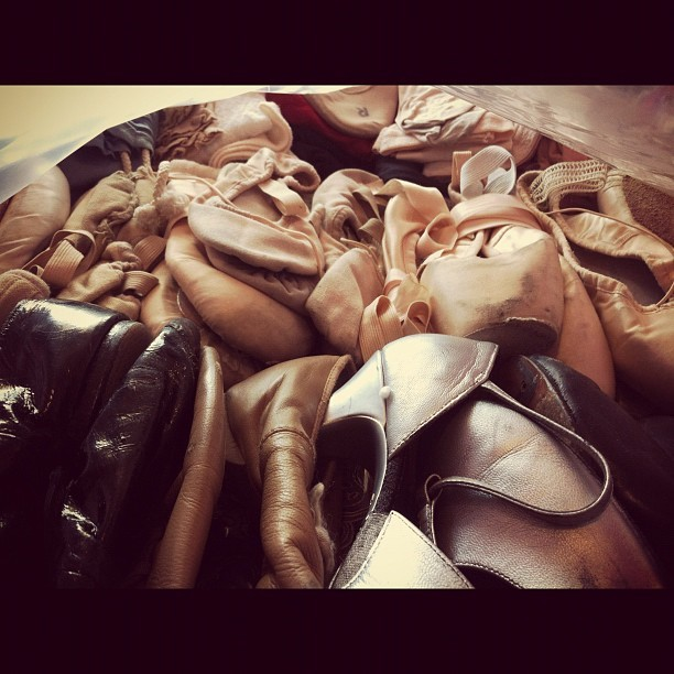 ballett, dance, dead pointe shoes, pink, pointe shoes