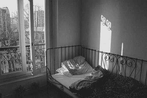 B W Bed Bedroom Black White Black And Image