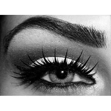b&w, eye, eye makeup, eyelashes, girl