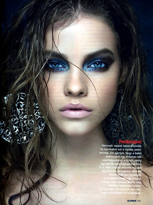 barbara palvin, beautiful, blue eyes, earings, face, girl, make up, model, pretty, sexy