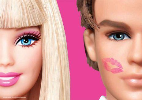 barbie, barbie and ken, barbie doll, barbie girl, barbie pink, ken, kiss, pink
