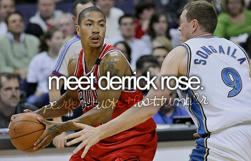 basketball, basketball player, before i die, bucket list, bulls, chicago, chicago bulls, derrick rose, perfectbucketlist