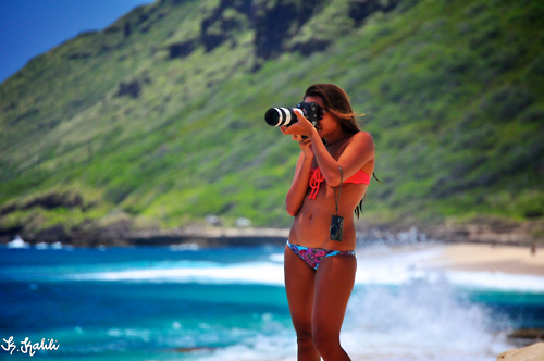 beach, bikini, camera, digi cam, digital camera