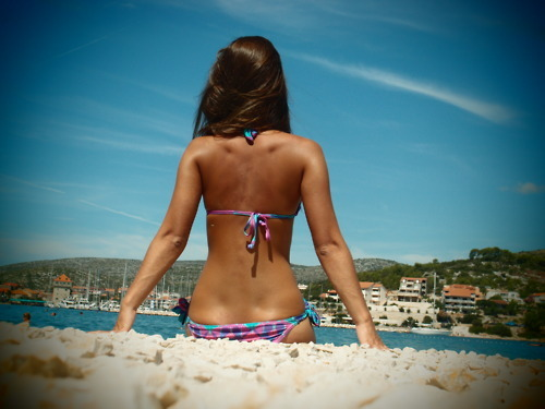 beach, bikini, day, girls, summer, sun