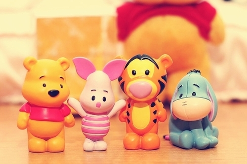 bear, colors, cute, friends, honey, orange, photo, pink, tiger, winnie the pooh