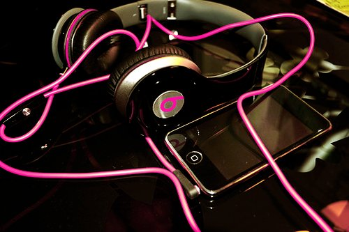 beats, beats by dre, fashion, headphones, iphone, music, pink