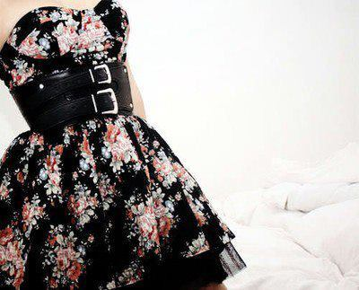 beautiful, belt, black, classy, dress