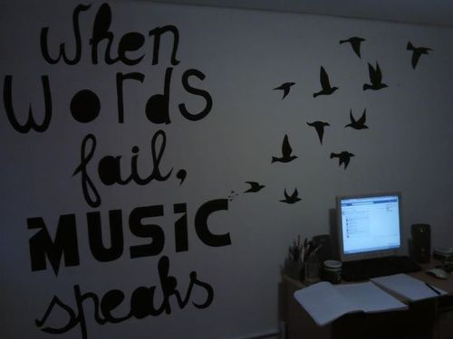 beautiful, birds, cool, music, nice, room, words