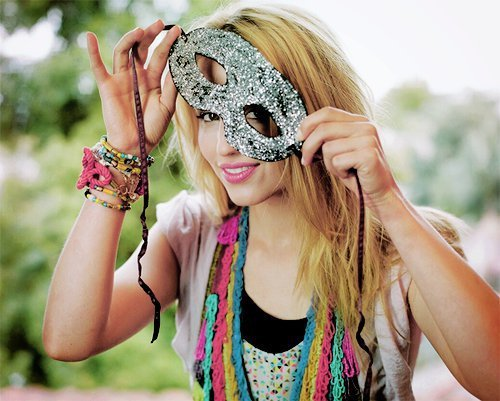 beautiful, blonde, girl, mask, party