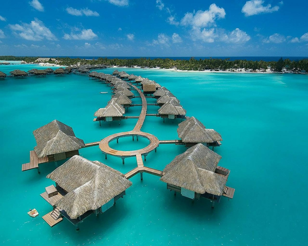 beautiful, blue, bora bora, connected, four seasons