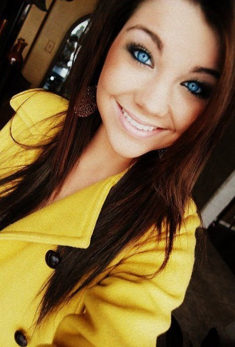 beautiful, blue eyes, coat, eyes, girl