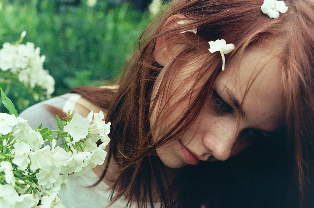 beautiful, boho, film, flowers, freckles