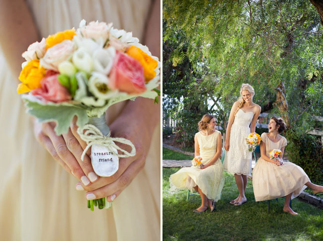 beautiful, bouquet, bride and bridesmaid