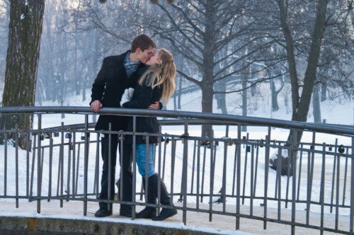 beautiful, casal, forever, kiss, love, pretty, winter
